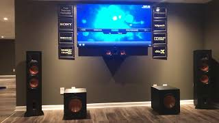 My Klipsch 5.2.2 Dolby Atmos home theater setup