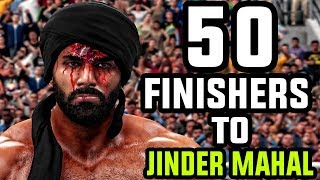 WWE 2K18 - 50 Finishers To Jinder Mahal!