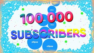 100 000 SUBSCRIBERS SPECIAL + 500 000 AGARIO COINS GIVEAWAY