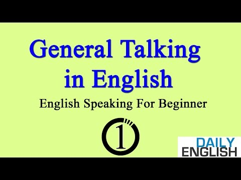 General Talking in English ★ English Speaking Practice For Beginner ➤ Lesson 1