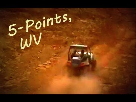 Polaris RZR s Steep Hill Climbs at Five Points WV