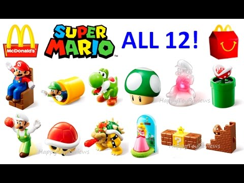watch ALL 12 WORLD SET 2017 McDONALD'S SUPER MARIO HAPPY MEAL TOYS NINTENDO KIDS COLLECTION UNBOXING UK JP