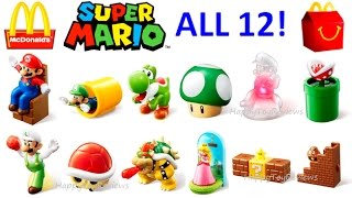 ALL 12 WORLD SET 2017 McDONALD'S SUPER MARIO HAPPY MEAL TOYS NINTENDO KIDS COLLECTION UNBOXING UK JP