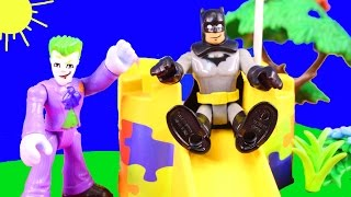 Imaginext Joker ruins Playmobil Day at the Park Batman fights back with a squirrelly plan