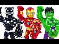 Grow bigger! Avengers Mega Mighties Iron Man, Black Panther, Hulk!   DuDuPopTOY