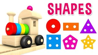 Learn Shapes with Preschool Toy Train - Learning Shapes Videos for Kids