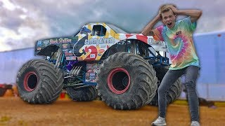DESTROYING Cars in a MONSTER Truck!!!