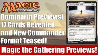 MTG Dominaria Previews: 17 Cards Revealed and New Commander Format Teased