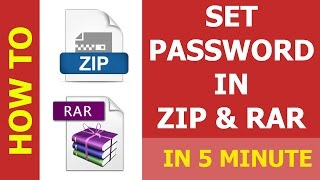 How to #35 set password in rar and Winrar or RAR files in Hindi