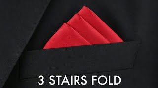How to fold a Pocket Square | THREE STAIRS