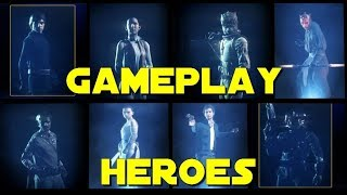 Star Wars Battlefront 2 : GAMEPLAY HEROES (Luke, Lando, Bossk, Leia, Iden, Han, Maul, Rey)