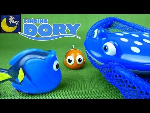 Disney Finding Dory Catch & Dive Pool Toys Game and Bubble Blowing Whistle Toy!