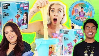 TESTING YOUTUBER STORE BOUGHT SLIME AND KITS!! RyansToyReview,GuavaJuice,Karina Garcia |NICOLE SKYES
