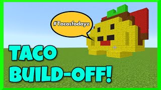 Minecraft - Taco Build Battle Challenge with Gamer Chad - Shopkins Taco Terrie