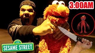 DO NOT PLAY HIDE AND SEEK WITH ELMO AT 3 AM!! *THIS IS WHY* 3 AM ELMO CHALLENGE