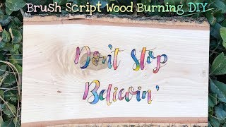 How to Woodburn Quotes with Watercolor Accents
