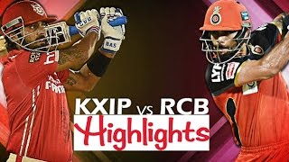 IPL 2016: RCB VS KXIP, 18th May 2016 | Match Highlights | Bangalore VS Punjab