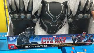 Marvel Civil War - Black Phanter Mask Toy eview