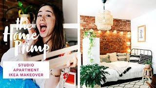 Stunning Studio Apartment Makeover On A Budget | Ikea Hacks | The Home Primp