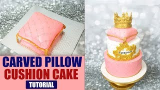 Classy Cake Decorating Tutorial | Carved Pillow | Cushion Cake