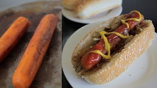 Carrot Hotdogs!? - tasty, healthy, vegan!