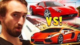 Ferarri Mod vs Lamborghini Mod Race | Minecraft - Mod Battle