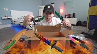 REAL LIFE KNIFE UNBOXING! INSANE CS:GO KNIVES