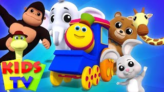 Animal Sound Song For Children | Kids Tv Bob The Train Nursery Rhymes