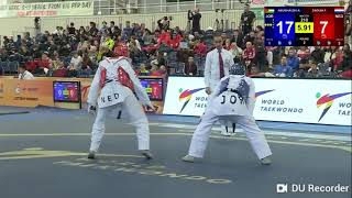 MANCHESTER WORLD TAEKWONDO GRAND PRIX 2018 - AHMAD ABU GAUSH (JOR) vs FAHD ZAOUIA (NED)