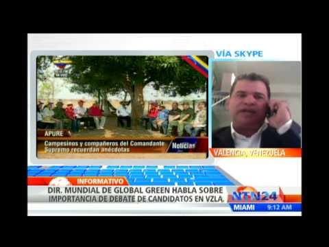 Miembro del Movimiento Ecológico de Venezuela asegura que el pueblo quiere ver el debate