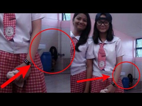 """Merinding,!! Dua gadis ini tak sengaja menangkap objek """"mengerikan"""" saat berpose selfie"""