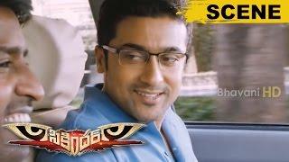Surya Introduction Scene || Comedy With Soori - Sikandar Movie Scenes