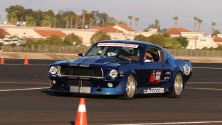 Mike Maier drives the TCI Mustang - Camarillo Airport Autocross