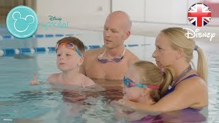 DISNEY HEALTHY LIVING | How To Get Your Kids Swimming - Let's Go Families 1 | Official Disney UK