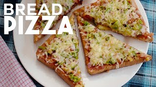 Bread Pizza Recipe | Quick and Easy Bread Pizza without Oven | Yummy Nepali Kitchen