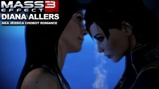 Mass Effect 3 - Diana Allers (Jessica Chobot) Romance