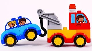 Tow Truck Cars and More Toy Vehicles Building with Lego Duplo Playset for Children