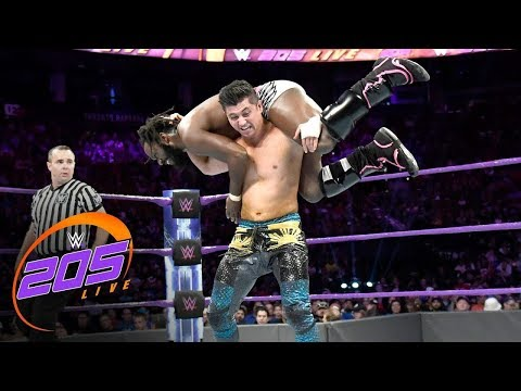 Rich Swann vs  TJP  WWE, Aug  8, 2017