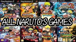 ALL NARUTO Games For PLAYSTATION (2003-2014)