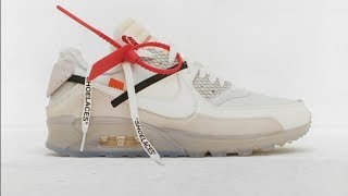 OFF-WHITE X NIKE AIR MAX 90 UNBOXING with GQ
