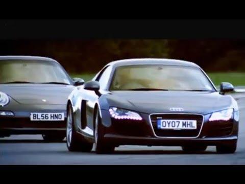 Audi R8 vs Porsche 911 Carrera Top Gear BBC