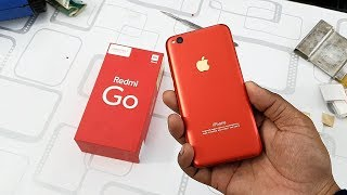 Redmi Go Converted in Iphone XR Red Apple Lamination Trick