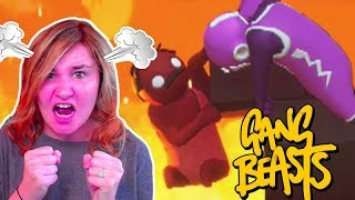 LITTLE KELLY GETS ANGRY!   GANG BEASTS  Little Kelly