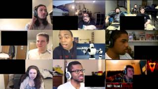 RWBY (Battle of Beacon) - Reaction Compilation (Monty Oum Tribute)