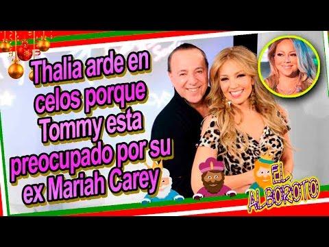 Aseguran Thalia esta celosa de la relacion entre Tommy Motola y Mariah Carey
