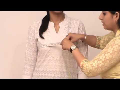 How to take body measurements for WOMEN's ETHNIC WEAR