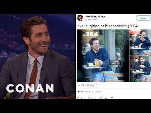 Jake Gyllenhaal Reacts To JakeActivities CONAN on TBS