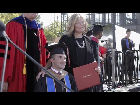 Xxx Mp4 Mom Who Attended Every Class With Quadriplegic Son Gets Honorary MBA 3gp Sex