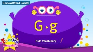 Kids vocabulary compilation - Words starting with G, g - Word cards - review  Learn English for kids