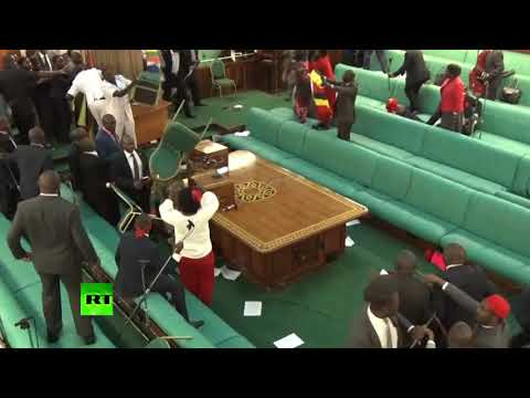 Xxx Mp4 Massive Brawl Breaks Out In Ugandan Parliament Over Presidential Age Limit 3gp Sex